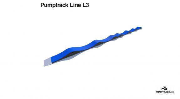 Pumptrack fietspad gemaakt van modules