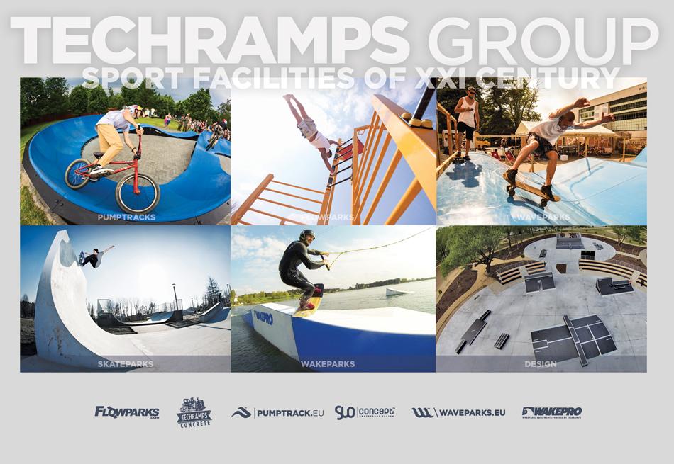 Instalaciones deportivas de grupo techramps