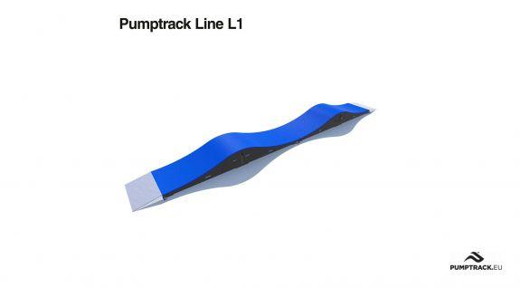 et sykkelstativ kalt pumptrack laget av moduler