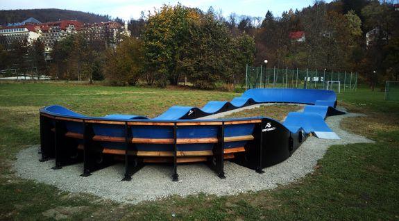 Pumptrack aangepast voor longboarding