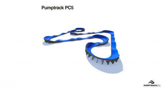 Pumptrack aus Verbundmaterial PC5