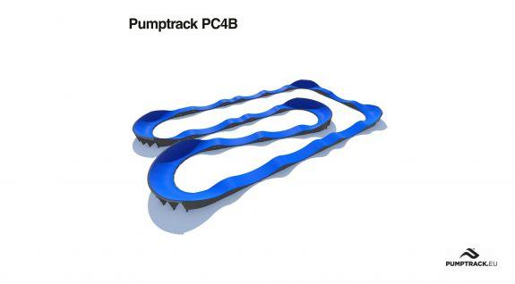 Composiet pumptrack aangepast voor elke gebruiker