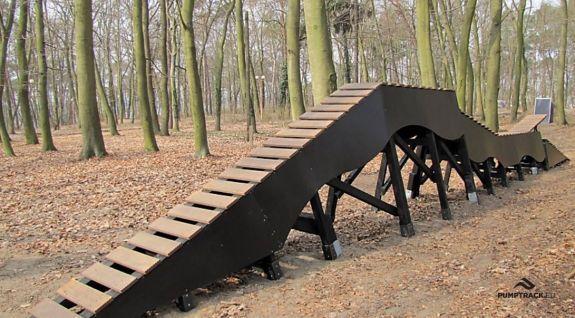 Elemento della pista ciclabile a Choszczno