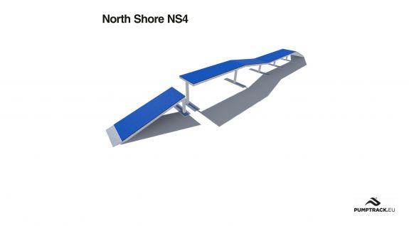Render elementu rowerowego typu North Shore NS4