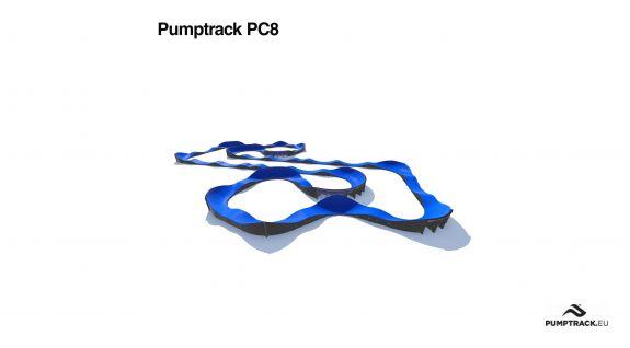 Pumptrack aus Verbundstoff PC8