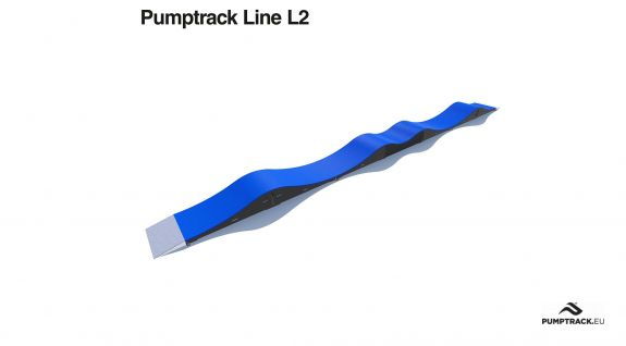 Traseu de biciclete Pumptrack realizat din module