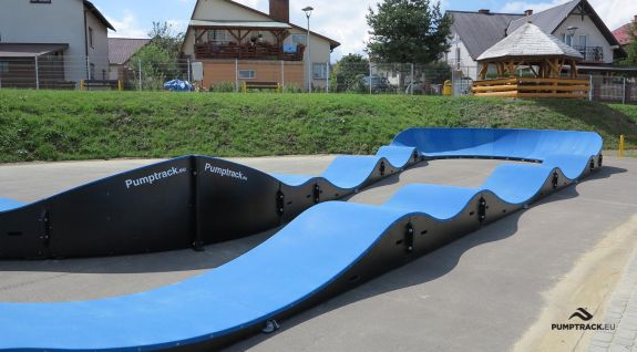 view of the composite pumptrack in Dukla