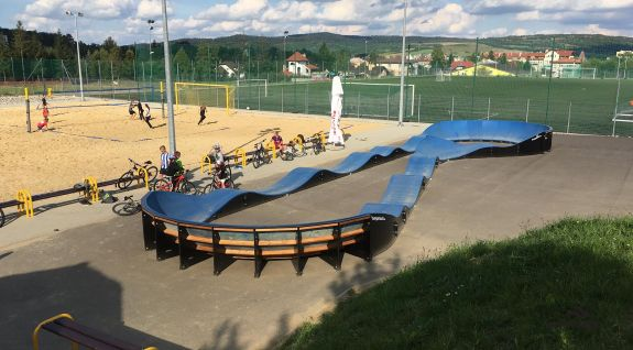 Parco giochi per ciclisti  Dukla