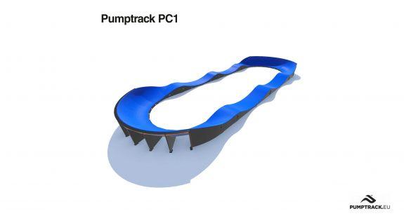 Render toru rowerowego typu Pumptrack PC1