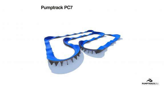 Render toru rowerowego typu Pumptrack PC7