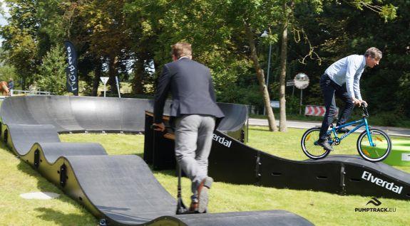 Tor rowerowy typu pumptrack w Danii