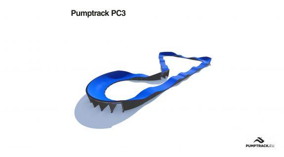 Pumptrack compozit PC3 - loc de joaca biciclete
