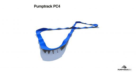 Pumptrack compozit PC4 - loc de joaca biciclete